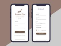 Roasted Sip Mobile App UI/UX