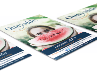 Flyer design - Quayside Orthodontics