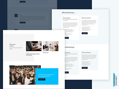 Component Libraries blue technology web design website design website design component library ux components