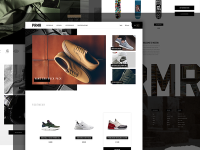 PRMR midwest michigan grand rapids ux ui web design sneakers shoes