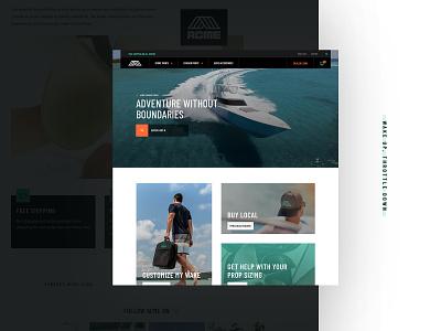 ACME Marine Refresh shopify boat boating michigan ecommerce website ux ui water marine