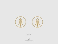 Wheat + House Logo Concept