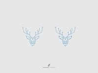 Circuit + Deer Logo Concept
