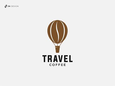 Travel Coffee Logo hot air balloon hot air ballon coffee shop adventure journey coffee travel brand identity dribbble branding company logo logo idea design graphic design logo design logo