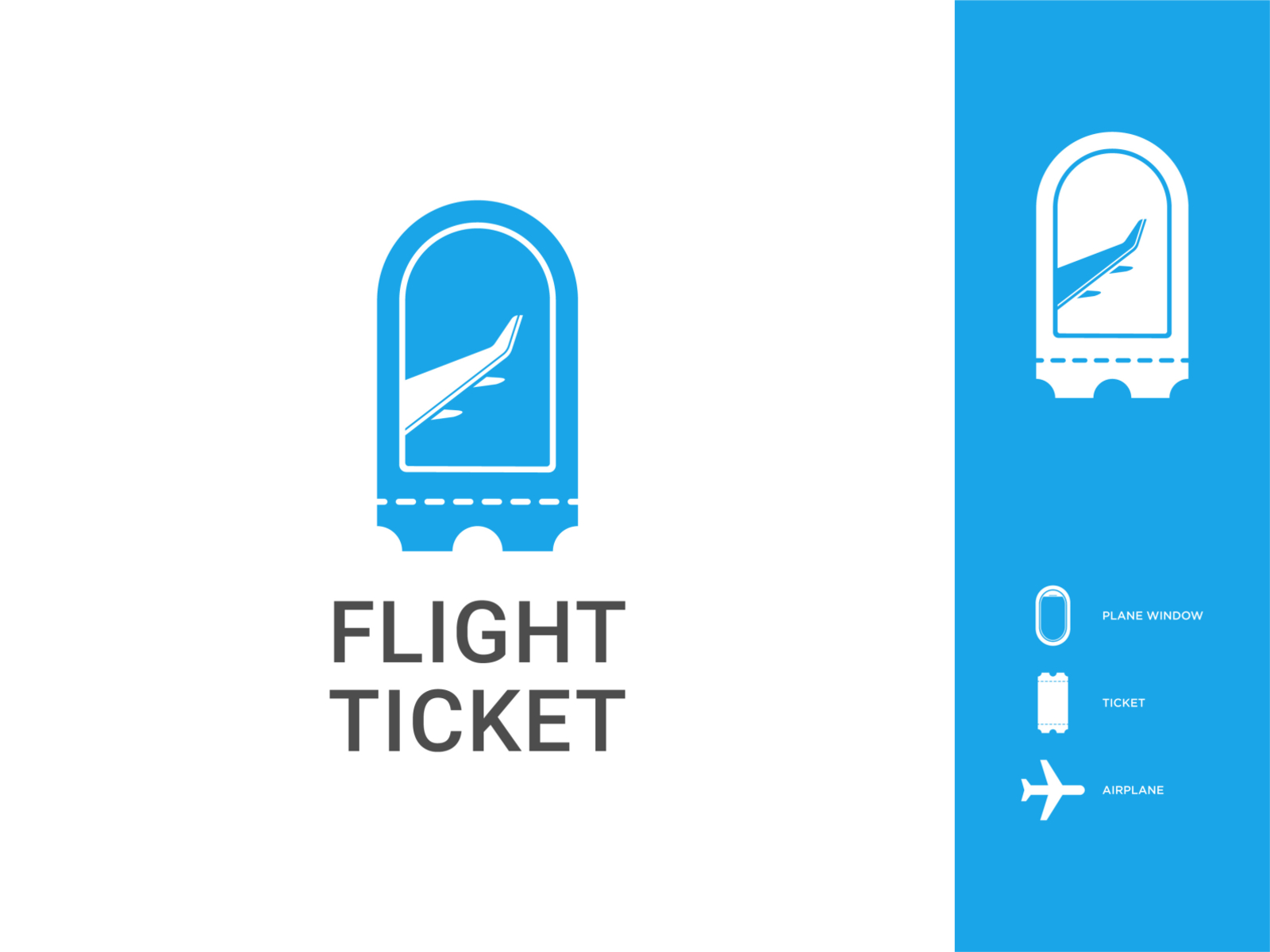 Flight Ticket Logo By Johannes Nababan On Dribbble