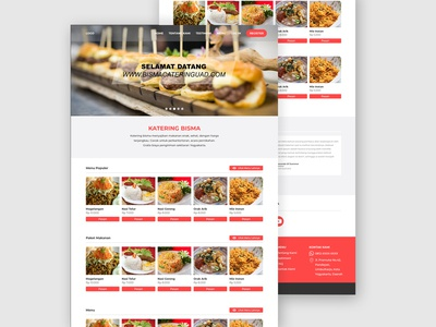 Home page Catering Website