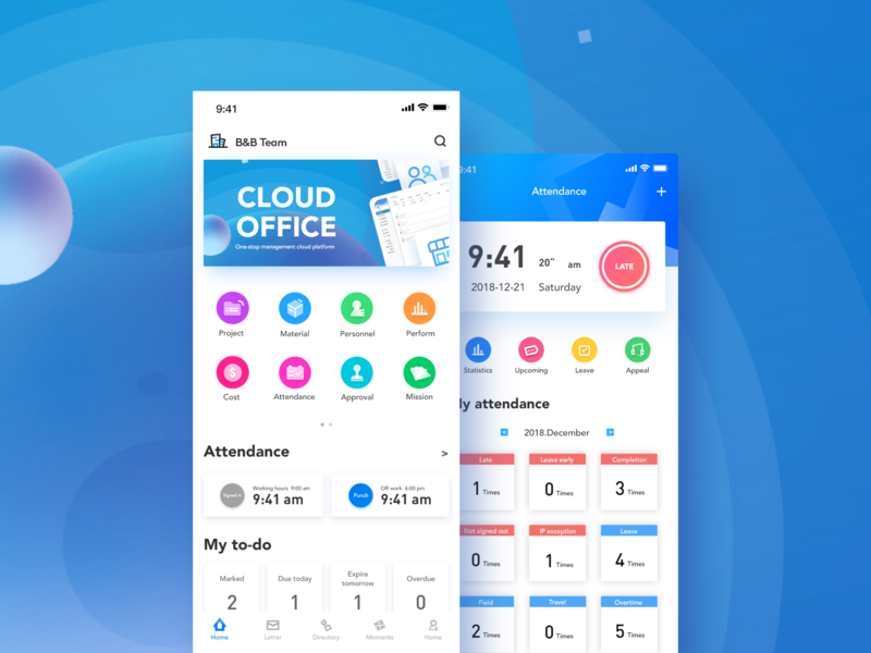 Cloud Office interface - 1 design ui