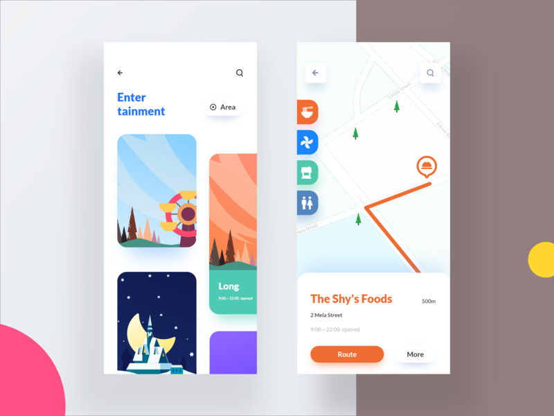 Park navigation app Vol.2 ux design illustration ui