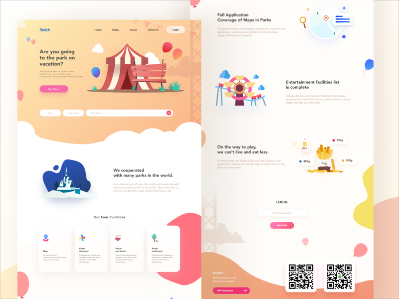 Park navigation app Vol.5 web ux design illustration ui