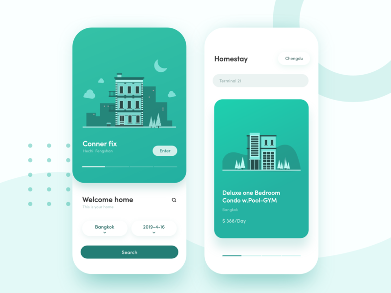 Homestay App Vol.1 ux design illustration ui