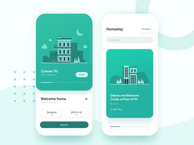 Homestay App Vol.1 ux design illustration ui