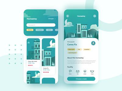 Homestay app vol.3 插图 ux design illustration ui