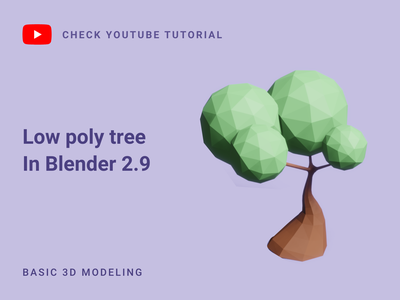 Low poly tree in Blender 2.9 | 3D Modeling low poly blendercycles blender3dart 3d modeling tree 3d model blender tree polygon tree low poly tree blender 3d blender