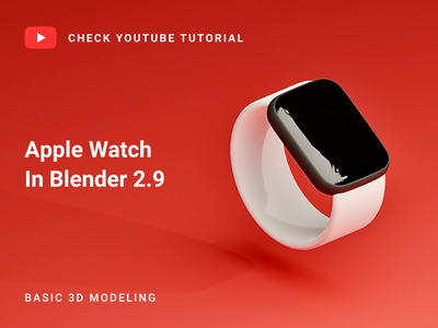 Apple watch in Blender 2.9 | 3D Modeling blender 2.9 watch model blender modeling 3d modeling watch 3d model watch 3d blendercycles blender3dart blender3d