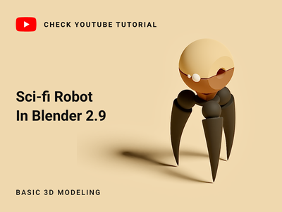 Sci-fi robot in Blender 2.9 | 3D Modeling blender cycles blender 2.9 blender 3d art blender youtube tutorial modeling tutorials blender robot 3d modeling robot 3d scifi robot 3d tutorials blender tutorials blender 3d