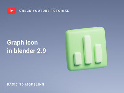 Graph icon in Blender 2.9 | 3D Modeling blender 2.9 icon blender blender 3d icon blender icon blender modeling blender channel blender 3d model 3d model youtube tutorial tutorial icon 3d icon blender 3d blender