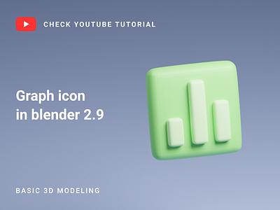 Graph icon in Blender 2.9 | 3D Modeling blender 2.9 icon blender blender 3d icon blender icon blender modeling blender channel blender 3d model 3d model youtube tutorial tutorial icon 3d icon blender 3d blender