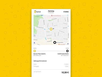 Email Receipt 017 #dailyui yellow taxi receipt app design ux design ui design