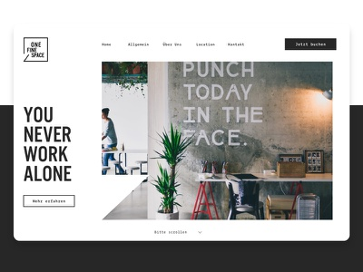 Coworking Concept coworking concept adobexd webdesign