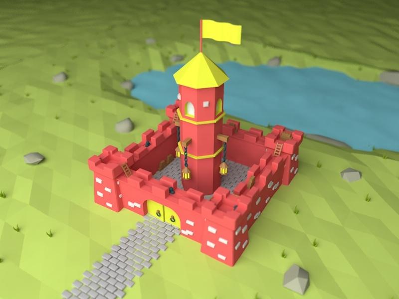 Second 3D Project middle earth project castle flat sweet c4d 3d