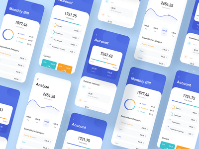 Financial App 3 data dataviz data visualization icon ux design financial app app ui
