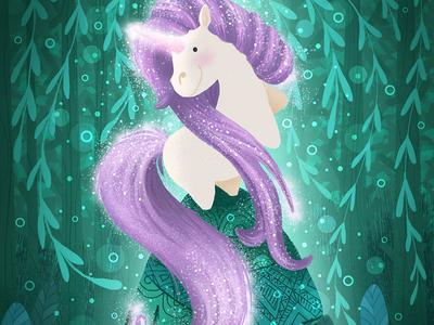 Unicorn. Character design unicorn cookbook forest magic wacom tablet children book illustration character design character cartoon character book illustration illustration children illustration cartoon illustration cartoon