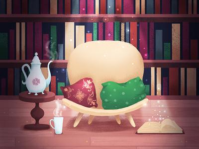 Library wacom tablet design cartoon cartoon illustration children book illustration illustration children illustration book illustration