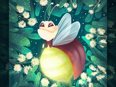 Glowworm. Character design wacom tablet design cartoon character cartoon character children book illustration cartoon illustration book illustration illustration children illustration character design