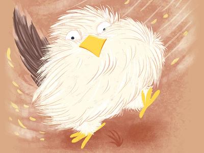 Bird and wind print poster card wacom tablet character design children book illustration cartoon illustration cartoon character cartoon character book illustration illustration children illustration