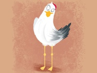 Gull. Cartoon. Character design