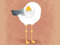 Funny Gull. Cartoon. Character design