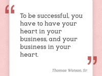 Put your heart in your business, but...
