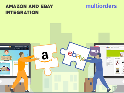 SOLUTION: Amazon And eBay Integration 2019 Multiorders Dribbble online store online shop order fulfillment order management inventory management shipping management ecommerce multichannel integration ebay amazon