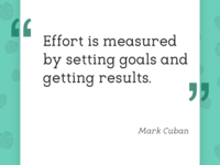 If you find an easy way to achieve results,...