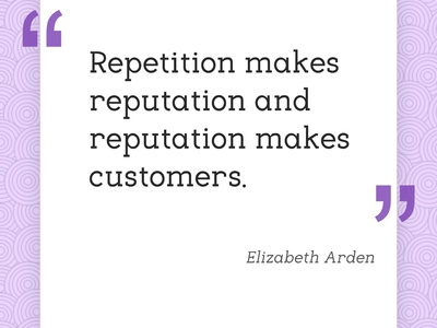 However, some repetition in e-commerce needs to be avoided...