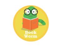 Book Worm Badge