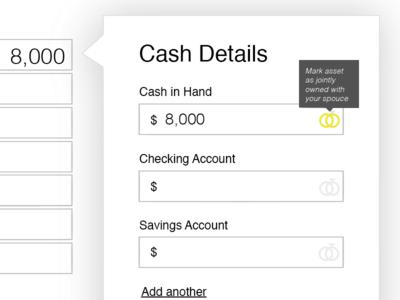 Personal Financial Sheet UX