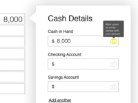 Personal Financial Sheet UX