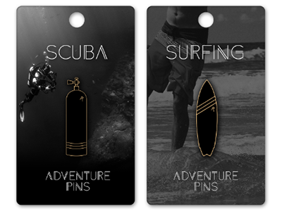 Adventure Pins - Coming soon scuba surfing sports adventures enamelpins