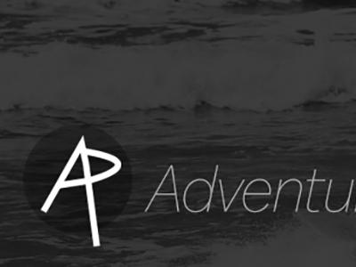 Adventure Pins mark initials black  white logo