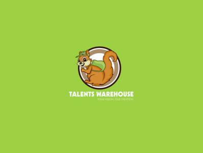 Talent Warehouse Logo Design company warehouse bag squirrel talents logodesign logo