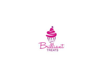 Brilliant Treats Logo Design bag branding company cup cakery creamy icecream confectionary confectionery cake logo cakes logo design logodesign treats brilliant cupcake logo cake shop cupcake