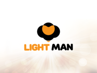 Light Man Logo Design illustration black yellow custom logo mascot character power logo electricity logo light logo mascot logo mascot logodesign branding logo