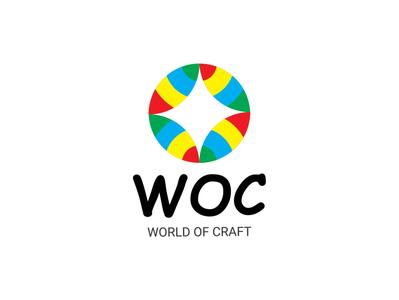 World Of Craft Logo Design arts craft art direction illustration artwork logodesign logo branding creative world logo