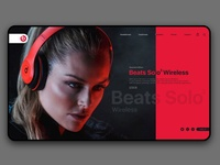 Beats website page