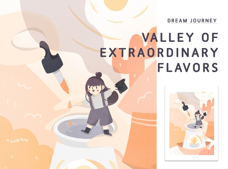 Dream Journey Entry: Valley of Extraordinary Flavors photoshop procreate illustration