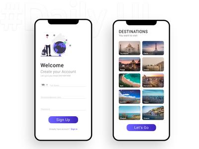 Daily UI 001 : Travel App