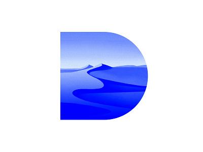 D sahara dunes desert typography type design type illustration experimental daily d  blue 36daysoftype