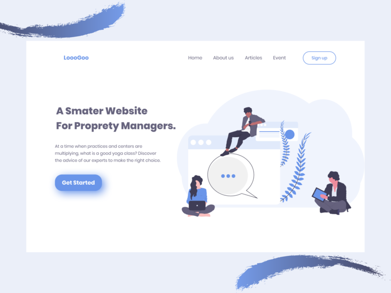 Property manager landing page