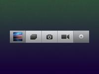 Camera App Tab Bar